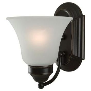 Sea Gull Lighting, Linwood 1-Light Heirloom Bronze Wall Sconce, 44235-782 at The Home Depot - Mobile