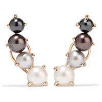 Ana Khouri - Patricia 18-karat gold pearl earrings