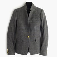 J.Crew Womens Black Plaid Regent Blazer With Satin Lapel