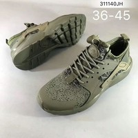 NIKEAIR Huarache Running Sport Casual Shoes Sneakers Army green H-ZPMY-ZZQGDL