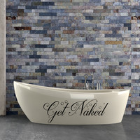Get naked vinyl wall bathroom decal