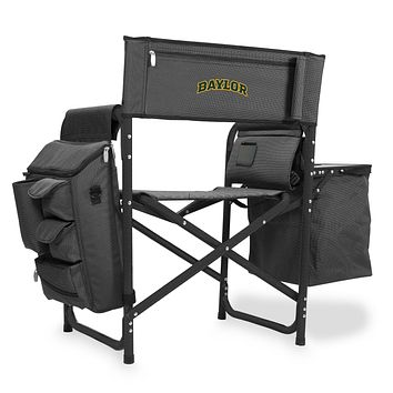 Baylor Bears 'Fusion' Backpack Chair with Cooler-Fusion Grey/Black Digital Print