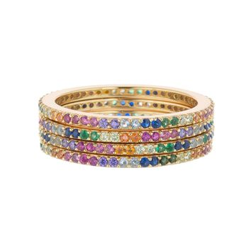 STACKABLE RINGS RAINBOW