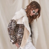 winter jacket women real fur coat patchwork wool fur Genuine Leather duck down liner jacket 2018 new natural Fur ins fashion