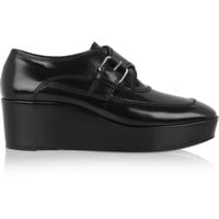 Balenciaga - Leather monk-strap platform loafers