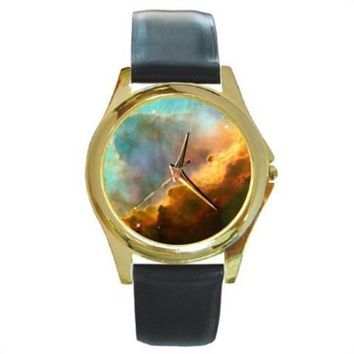Omega Nebula Gold Stainless Steel Watch Round