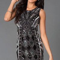 Sleeveless Embellished Mini Dress MYM1838