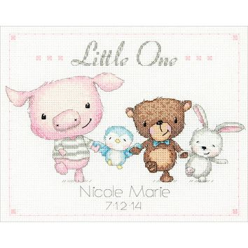 "Little One Birth Record (14 Count) Dimensions Counted Cross Stitch Kit 10""X8"""