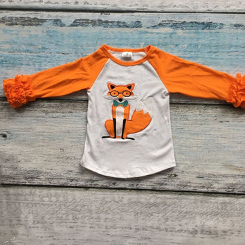 Girls Long Sleeve Fox T Shirt