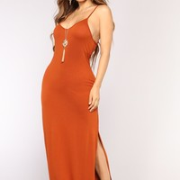 Brighton Maxi Dress - Rust