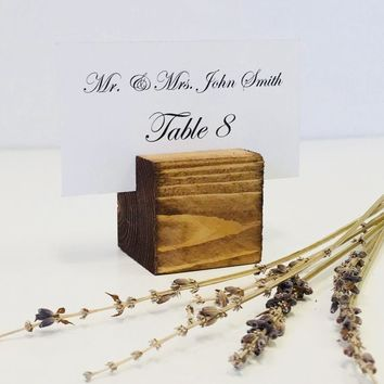 Place Card  Holder Rustic Card Holder Wedding Card Holder 1.5 inch Set of 25 For Restaurants Weddings Banquets by Gallery360Designs