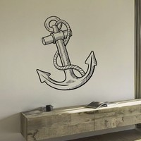 Wall Decal Vinyl Sticker Nautical Sea Anchor Decor Sb420