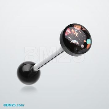 Galaxy Daze Logo Acrylic Barbell Tongue Ring