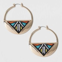 Fabric Inlay Hoop Earrings - New In This Week - New In