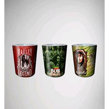 Bob Marley Rasta Shot Glass 3-Pack