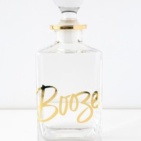 Chez Elle Clear and Gold Booze Decanter