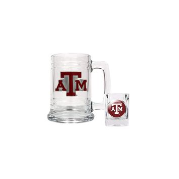 Texas A & M Shot Glass and Mug Set - Etching Personalized Gift Item