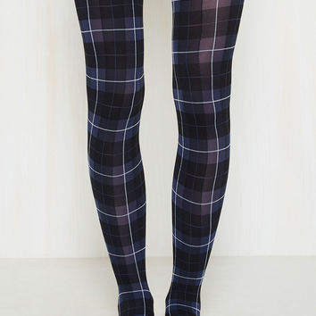 Plaid Moon Rising Tights | Mod Retro Vintage Tights | ModCloth.com