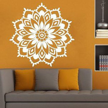 Mandala Wall Decals Bedroom Yoga Sticker Decal Meditation Bohemian Decor C293