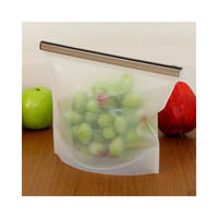 Factory Direct Colorful food-grade silicone kitchen outdoor travel portable food storage bags sealed bags self-styled WHITE
