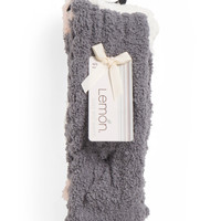 2pk Tipped Cable Crew Cozy Socks - Women - T.J.Maxx