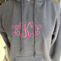 Monogrammed hooded sweatshirts. Great for cooler weather.