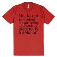 Alcohol Quote Tee-Unisex Red T-Shirt