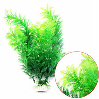 New Fish Tank Aquarium Decor Green Artificial Plastic Underwater Grass Plant SL