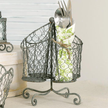Chicken Wire Utensil Holder - Barn Roof - *FREE SHIPPING*