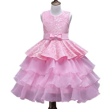 Kids Girl Wedding Flower Girls Dress Princess Party Pageant Formal Dress Prom Little Baby Girl Birthday Dress