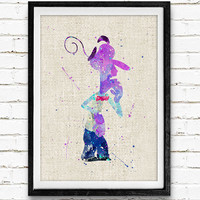 Inside Out Fear Poster, Emotions Disney Watercolor Art Print, Kids Decor, Wall Art, Home Decor, Gift, Not Framed, Buy 2 Get 1 Free!