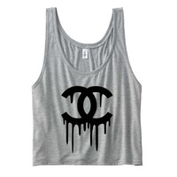 Chanel Top Drippy Chanel Women's Flowy Boxy Tank