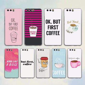 Coffee style phone Case for Huawei P10 P9 Lite P10 Plus P8 Ascend G7 G8 Mate 9