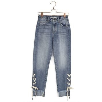 Penelope Lace Up Jean