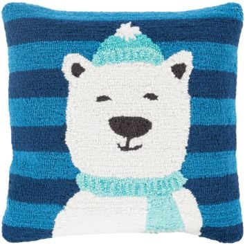 Holiday Polar Bear Pillow