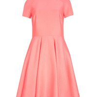Embossed neoprene dress - Coral | Dresses | Ted Baker