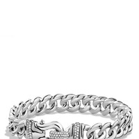 Women's David Yurman 'Buckle' Single-Row Bracelet with Diamonds - Diamond
