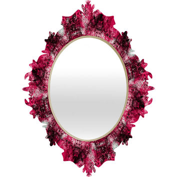 Caleb Troy Electric Pink Whirlpool Baroque Mirror