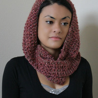 Scoodie  Hooded Cowl Scarf by KnotaGeek on Etsy