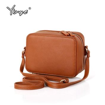 YBYT brand 2018 new vintage simple solid women flap high quality ladies cell phone coin purses shoulder messenger crossbody bags