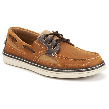 Eddie Bauer Carson Men's Boat Shoes (Beige/Khaki)
