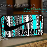 just do it nebula aztec mint iPhone case, iPhone 4/4S, iPhone 5/5S, iPhone 5c, Galaxy S3 i9300, S4 i9500, Design By Custom And Clothing