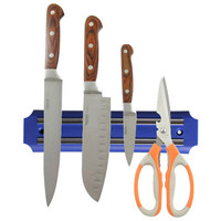 1 Pcs ABS Material Strong Magnetic Knife Holder Tool Rest Shelf for Stainless Steel Kitchen Pub Bar Counter Knife Blue