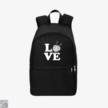 Love Knitting And Crochet, Sewing Backpack