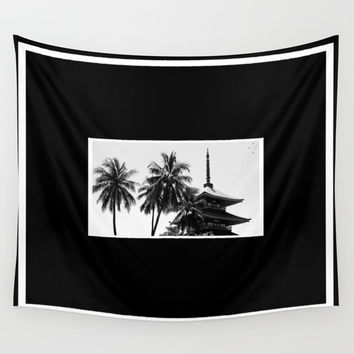 Pagoda Palms Wall Tapestry by Derek Delacroix