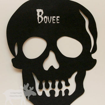 Personalized Skull Door Hanger / Skull Door Hanger / Personalized Skull / Skull Hanger / Skull Door Decor / Door Hanger / Skull Decor