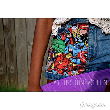 Marvel High Waisted Shorts ALL SIZES