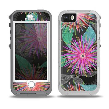 The Bright Colorful Flower Sprouts Skin for the iPhone 5-5s OtterBox Preserver WaterProof Case