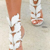 White Angel High Heel Sandals from sniksa