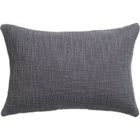"Basis Grey 18""x12"" Pillow With Feather-down Insert"